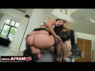 Bubble butt alexis texas and her slave on a leash jada stevens ass fucked