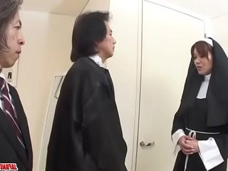 First anal hardcore experience for Japan nun, Hitomi Kanou