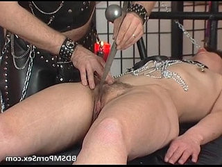 Kinky couple enjoys in BDSM play where