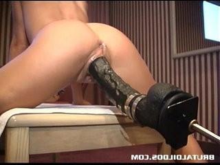 Jessy and a big dildo machine