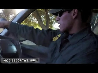 Dominant cop and police uniform brunette gets pulled over for a