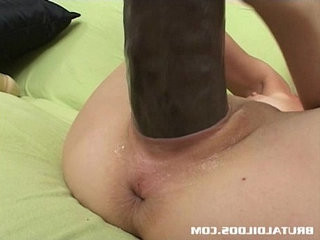 Jayda loves stretching both her holes with brutal dildos