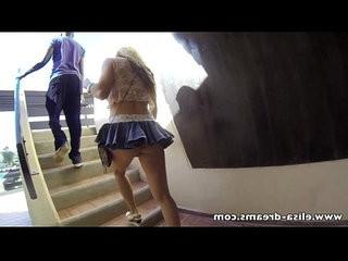 Flashing no panties under my mini skirt