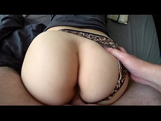 Homemade fuck with girl through panties with a big ass
