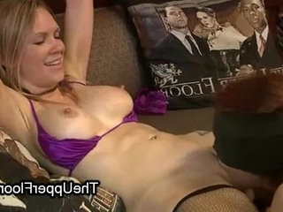 Busty bound babe made to lick my pussy