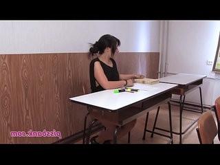 School desk piss