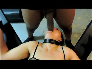 Suspended cross deepthroat session